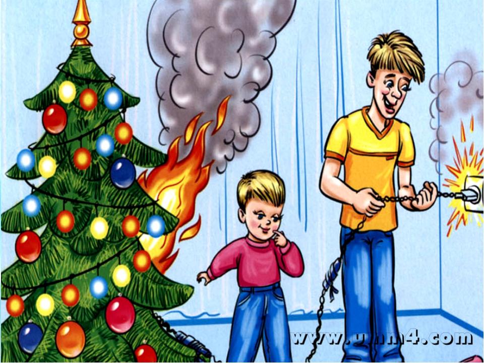 Меры пожарной безопасности при установке новогодней ели в жилых домах и квартирах